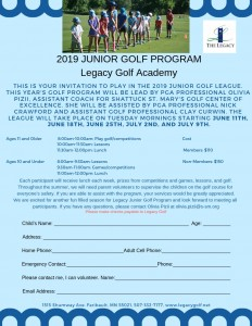2019 Junior Golf League